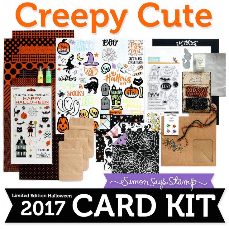 Limited Edition Simon Says Stamp Halloween Card Kit CREEPY CUTE CCHK17