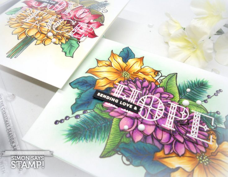 Custom Copic Colored Floral Cards