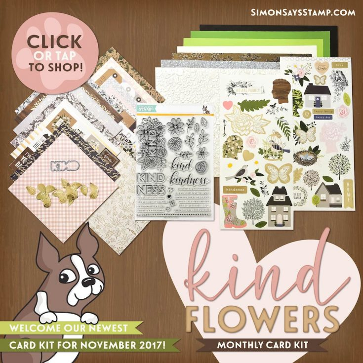 November Kind Flowers 2017 card kit