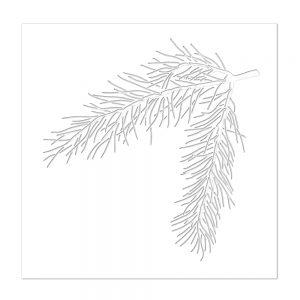 Pine Bough Stencil, SSST121411