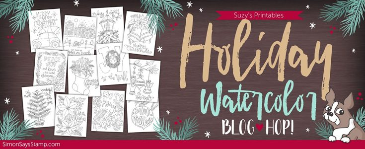 Suzy's Holiday Watercolor Blog Hop
