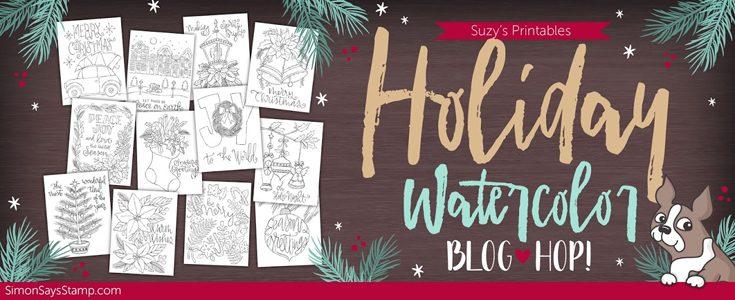 Suzy's Holiday Watercolor Blog Hop