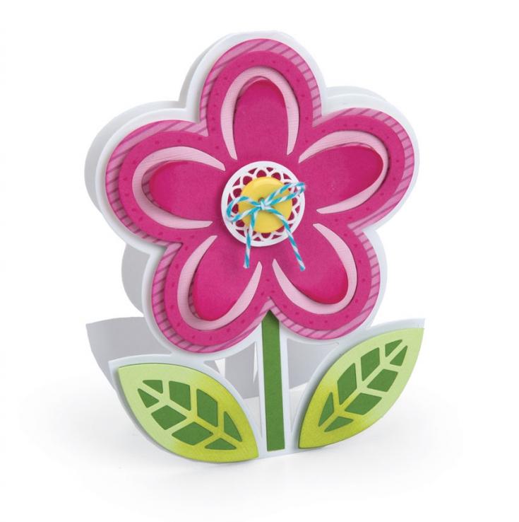 Sizzix Felt Flower Fold-its Card