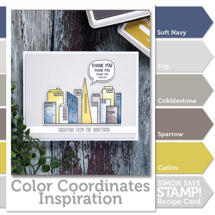 Shari Carroll, Color Coordinates, Simon Brand Stamps