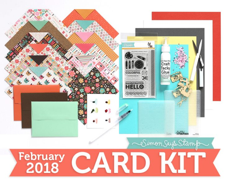 February Card Kit, Simon Exclusives, Shari Carroll