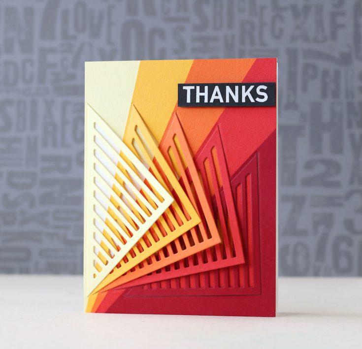Amore Laura Fadora: Stripes Card Wrap Thanks