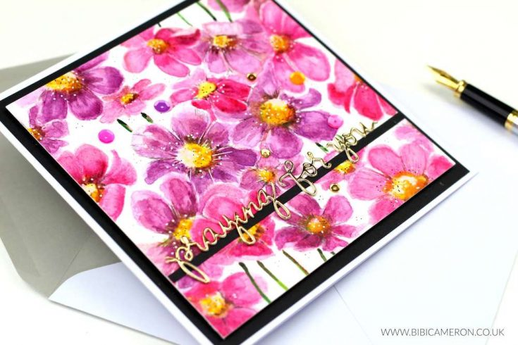 Watercolor Cosmos Background with Bibi Cameron