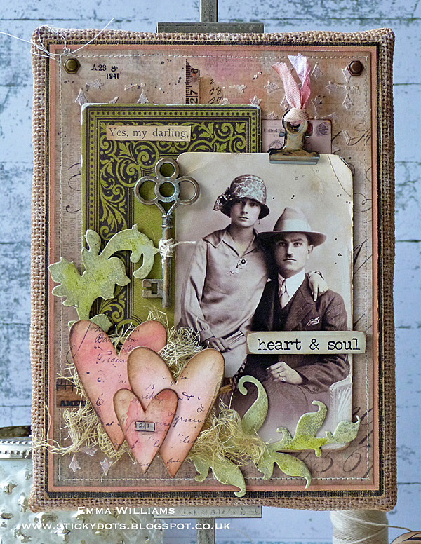 Heart & Soul Burlap Panel