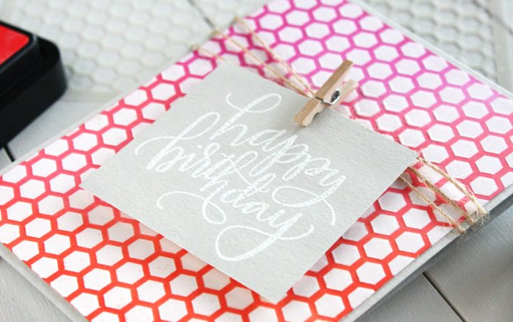 Stenciling with Translucent Embossing Paste