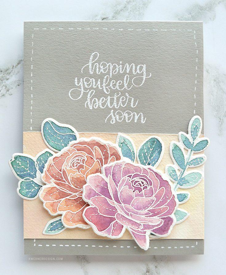 Kristina Werner Simon Says Stamp April Throwback Thursday More Spring Flowers Handlettered Encouragement