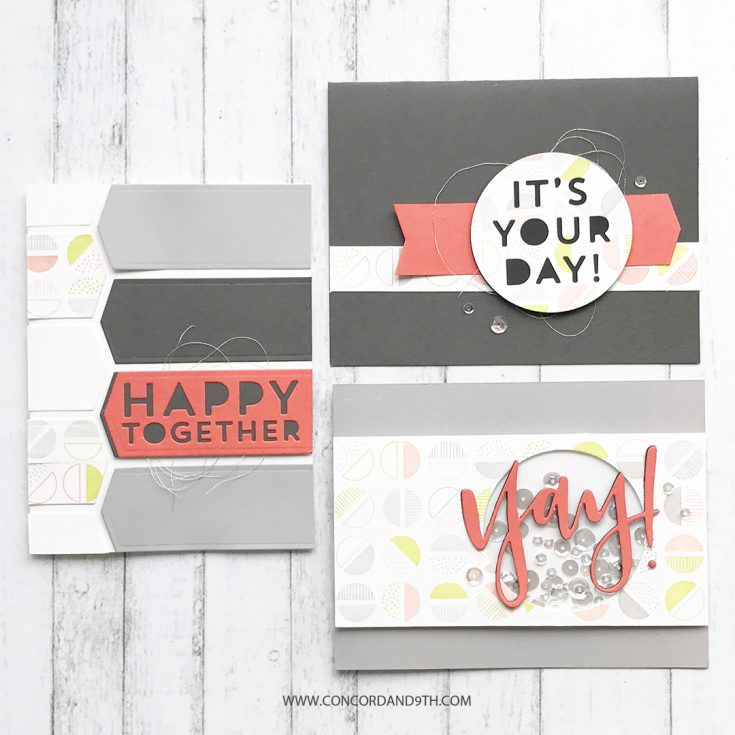 Semicircle Turnabout Stamps & Yay Dies