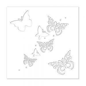 Butterflies stencil ssst121419