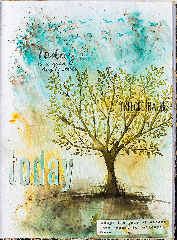 Tree Art Journal Page