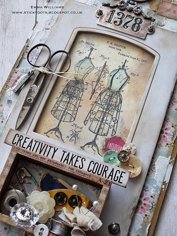 Creativity Takes Courage Tag by Emma Williams
