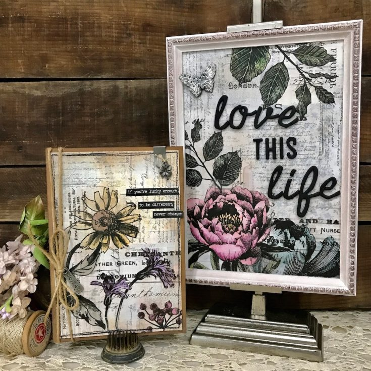 Love this Life Framed Panel by Richele Christensen