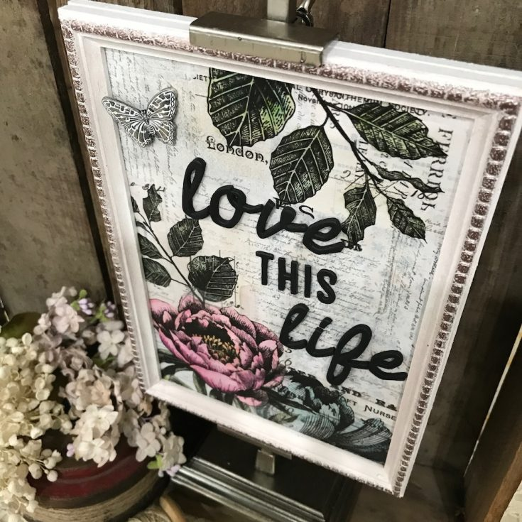 Love this Life Framed Panel by Richele Christensen