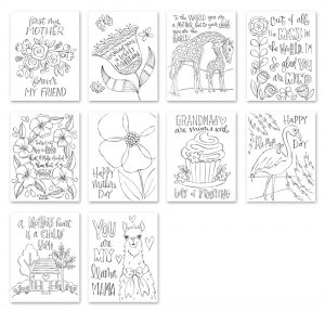 Simon Says Stamp Suzy's MOTHERS DAY Watercolor Prints szwcm18 Fluttering By