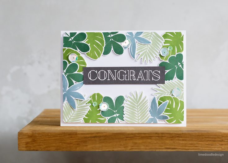 Doodling with Debby: Simply Stamped Tropic Leaves