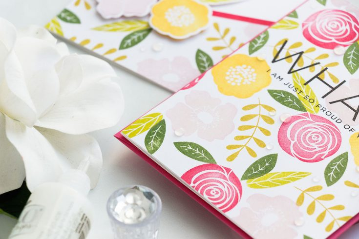 Yippee for Yana: Stamped Floral Pattern Cards