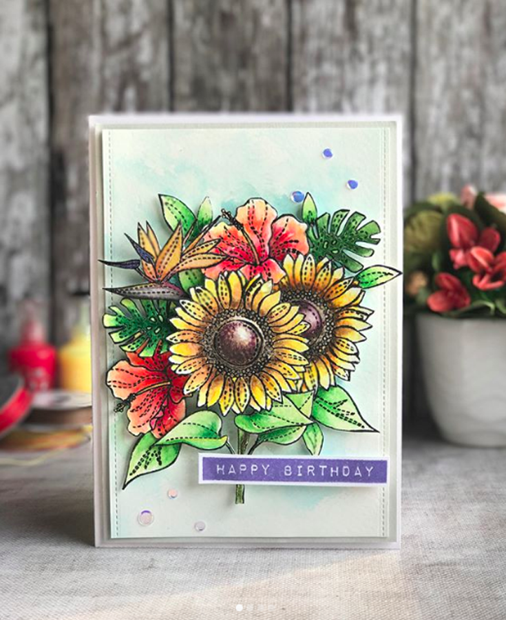 Ankita Gupta Simon Says Stamp May Throwback Thursday Summer Flowers stamp set