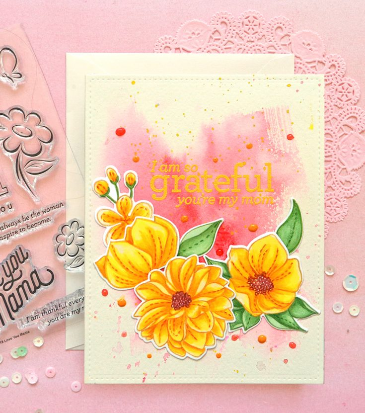 One Stamp, Five Ways - Even More Spring Flowers!