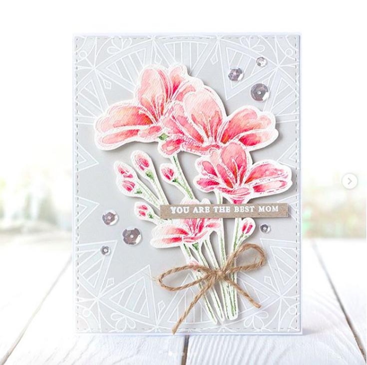 Kristina Pokazanieva Simon Says Stamp June Throwback Thursday Bouquet of Thanks stamp set