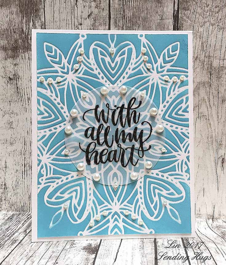 Lin Brandyberry Simon Says Stamp May Throwback Thursday Heart Mandala Stencil