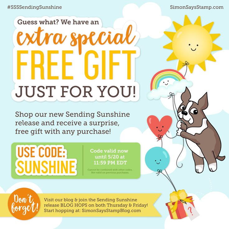 Simon Says Stamp Sending Sunshine Blog Hop Free Gift