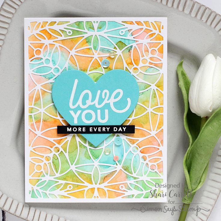 Simon Says Stamp Sending Sunshine Blog Hop Shari Carroll CZ Design Love You Like stamp set Marilyn Full Card die