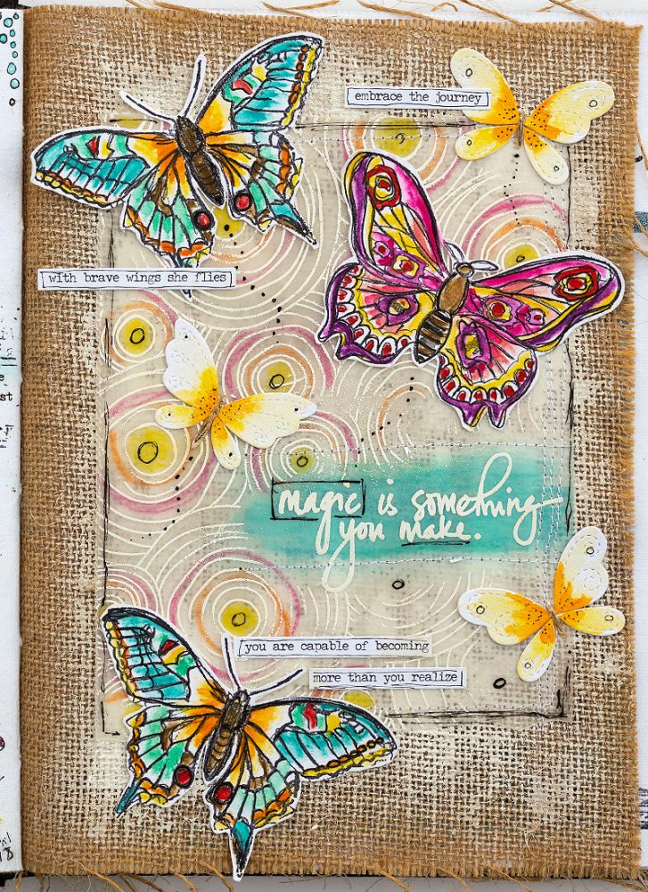 Layers of ink - Butterfly Art Journal Tutorial by Anna-Karin Evaldsson