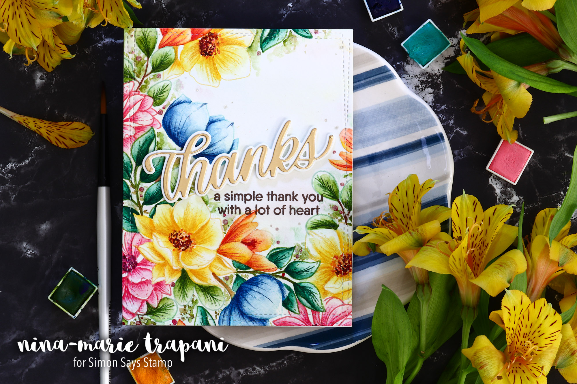 Easy No-Line Watercolor + 30 Day Coloring Challenge Blog Hop