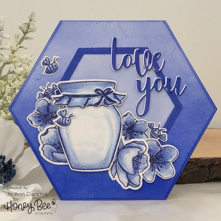 """Love You"" Hexagon Shape Card"