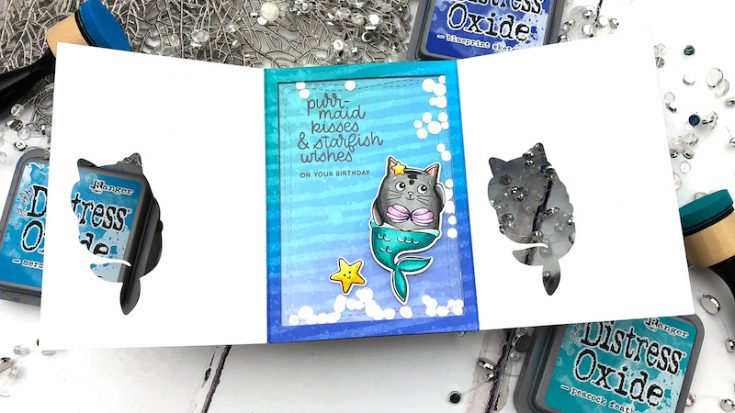 Interactive Cards by Jess: Trifold Window Shaker Card