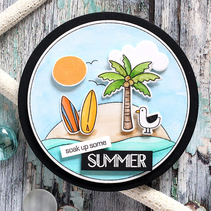 Simon Says Stamp Good Vibes Release Shari Carroll Surf's Up stamp set and dies