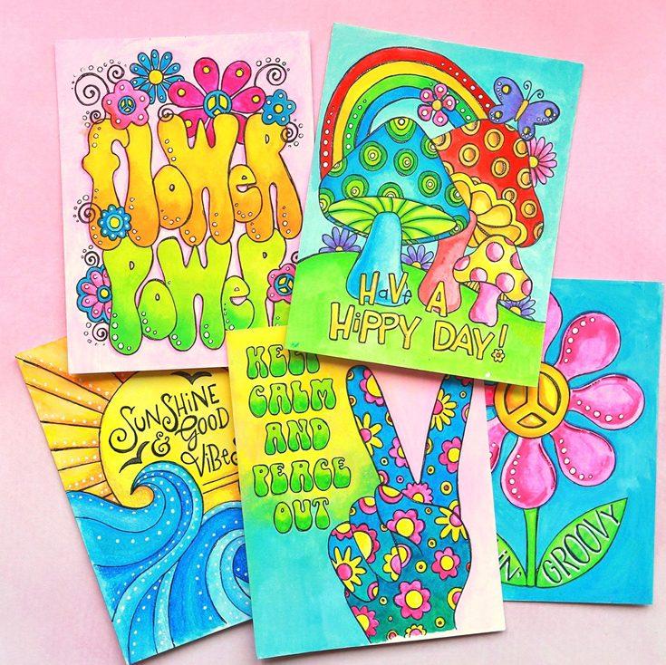 Simon Says Stamp Good Vibes Release Suzy Plantamura Suzy's Good Vibes watercolor prints