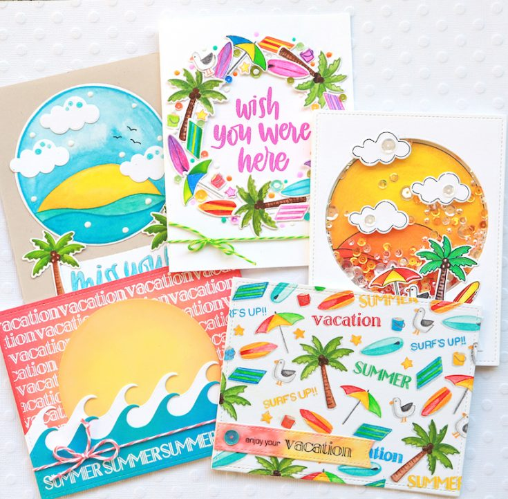 One Stamp, Five Ways: Surf's UP!