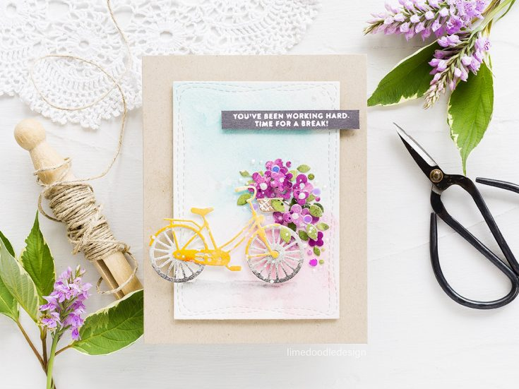 Doodling with Debby: Watercolored Die Cuts