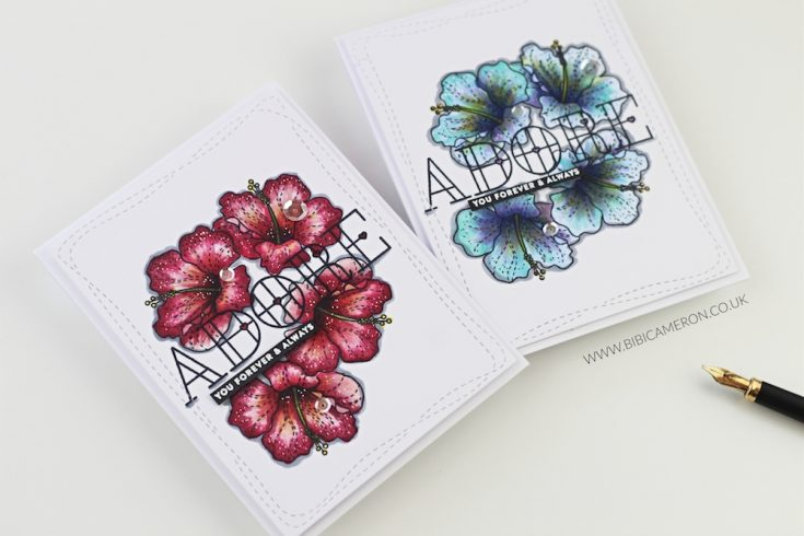 More Flowers with Stained Glass Greetings!