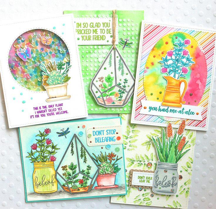 One Stamp, Five Ways: Plantiful Puns