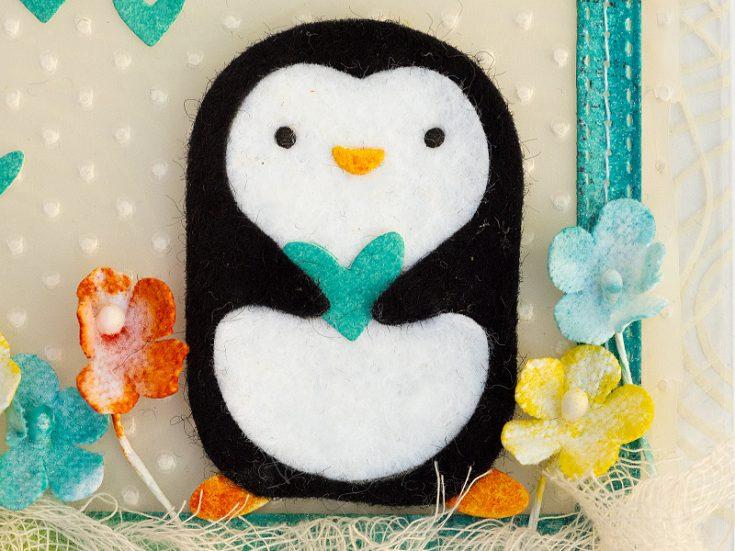 Clear Penguin Birthday Card