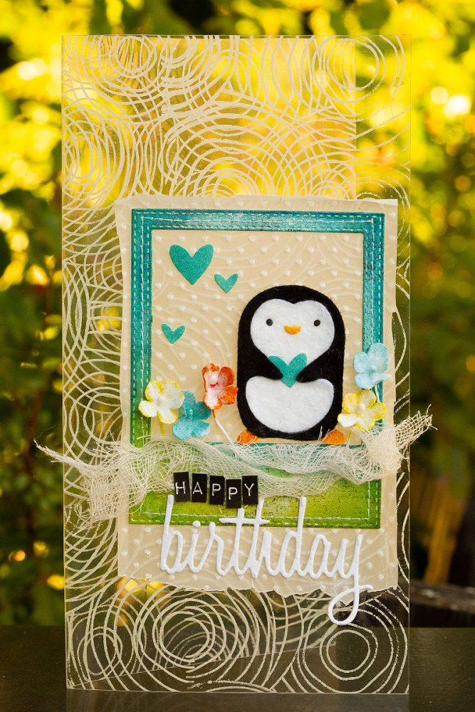 Layers of ink - Clear Penguin Card Tutorial by Anna-Karin Evaldsson