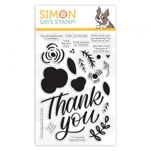 Thank You Flowers Clear Stamps