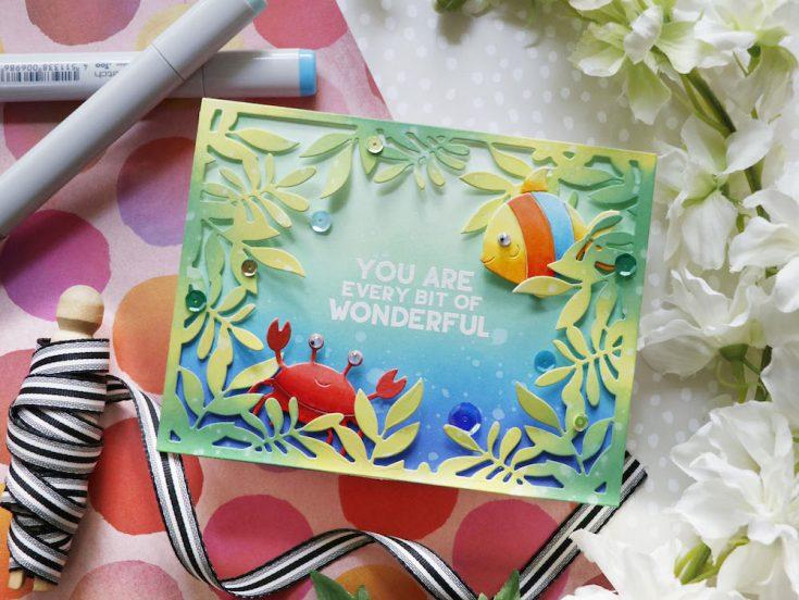 Amore Laura Fadora: Leafy Frame Under the Sea