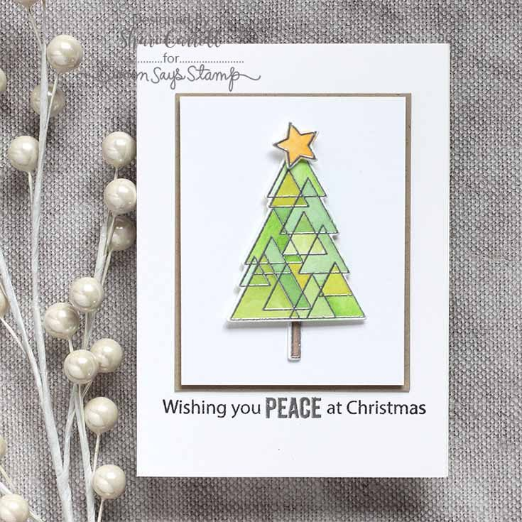Simon Says Stamp STAMPtember® Epic Online Party Shari Carroll Festive Trees Stamp Set