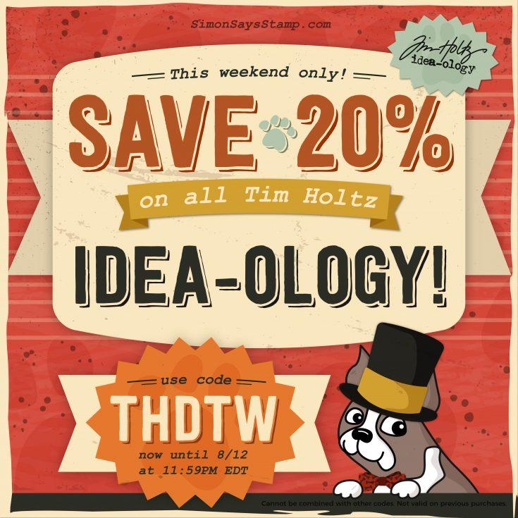Tim Holtz Idea-ology Sale