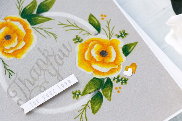 Yippee for Yana: Pencil Coloring on Smoke Gray Cardstock