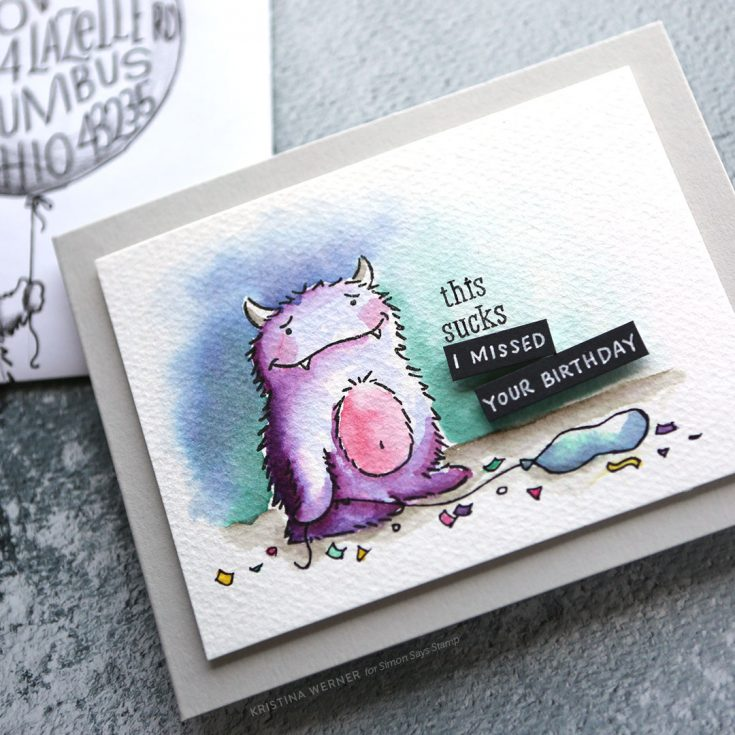 A Fun Card Made Using The Monster Hugs Stamp Set She Has Video For Too To See Envelope Kristina Her Visit Blog