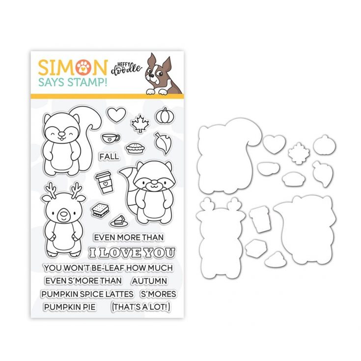 Heffy Doodle Clear Stamp and Die Set MORE THAN S'MORES SR18SETHD STAMPtember Exclusive