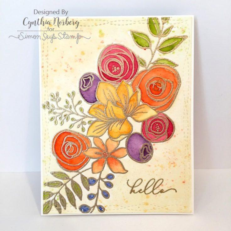 Cindy Norberg, Card Kit, Sketched Flowers