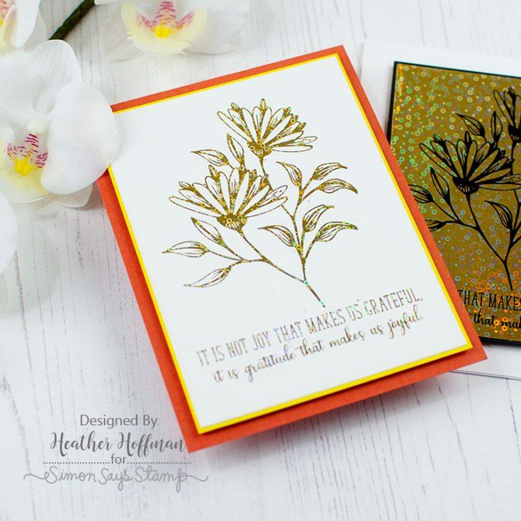 Heather Hoffman, Card Kit, Sketched Flowers